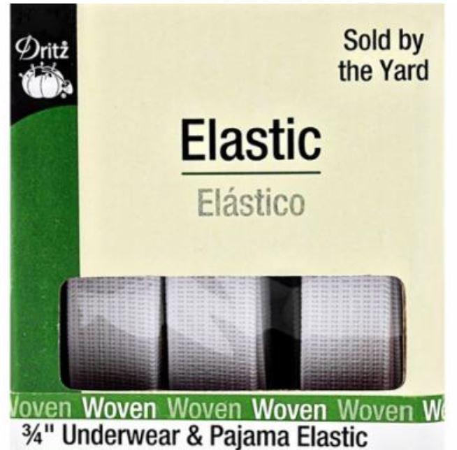 9410W Dritz Elastic 3/4 Woven White