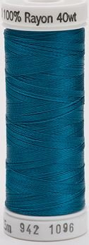 942-1096 Sulky 100% Viscose Rayon 250 yrds 40 wt Dk Turquoise