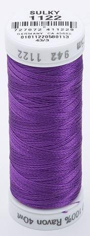 942-1122 Sulky 100% Viscose Rayon 250 yrds 40 wt Purple