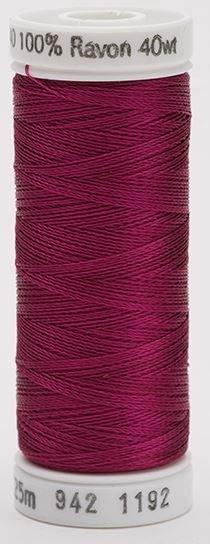 942-1192 Sulky 100% Viscose Rayon 250 yrds 40 wt Fuchsia