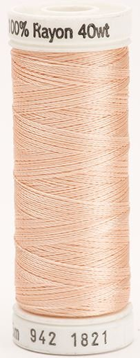 942-1821 Sulky 100% Viscose Rayon 250 yrds 40 wt Creamy Peach