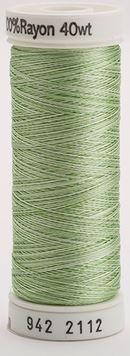 942-2112 Sulky 100% Viscose Rayon 250 yrds 40 wt Mint Green Vari