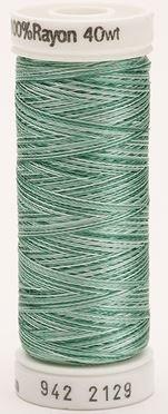 942-2129 Sulky 100% Viscose Rayon 250 yrds 40 wt French Greens Vari