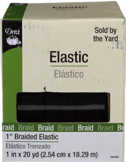 9435B Dritz Braided Elastic 1 Black