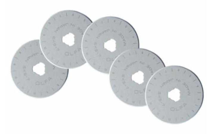 9460 Olfa 45mm Rotary Blades (5 Blades) RB45-5