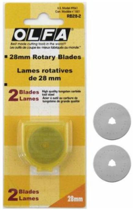 9561 Olfa 28mm Rotary Blades RB28-2