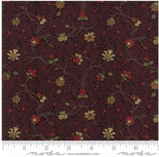 9591-16 On Meadowlark Pond by  Kansas Trouble  Purple with tan and red flowers