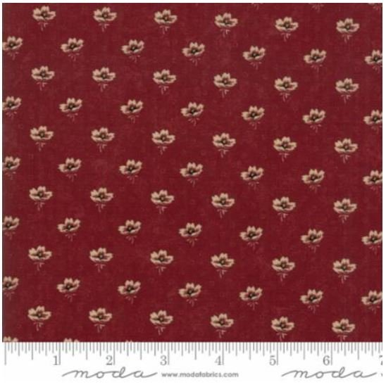9593-13 On Meadowlark Pond by  Kansas Trouble Red with cream flowers