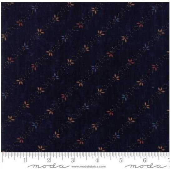 9594-14 On Meadowlark Pond by  Kansas Trouble Navy with red and gold flowers