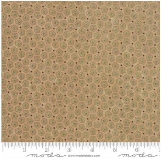 9595-11 On Meadowlark Pond by  Kansas Trouble  Tan with small geometric design