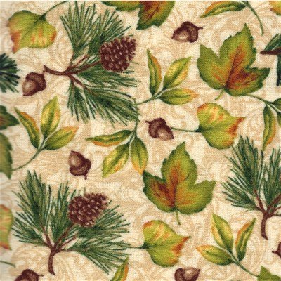 AEBF-11240-84 Robert Kaufman Pine Ridge Flannel Cream Leaves