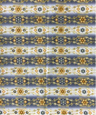14063-200 Robert Kaufman Somerset Metallic Ornamental Vintage Blue