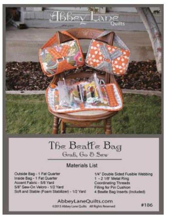 ALQ-186 The Beatle Bag  Pattern with Inserts
