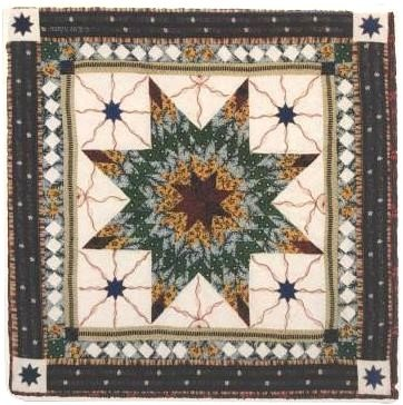 AQ-8, American Quilt Coaster #8, sold as each