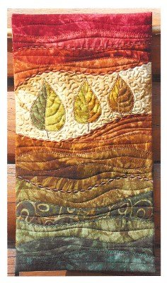 Autumn Leaves On the Trail Creations Wall Hanging 9 x 16