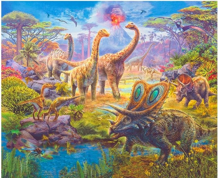 AYK-17038-267 Robert Kaufman Picture This Adventure Prehistoric Dinosaur Panel