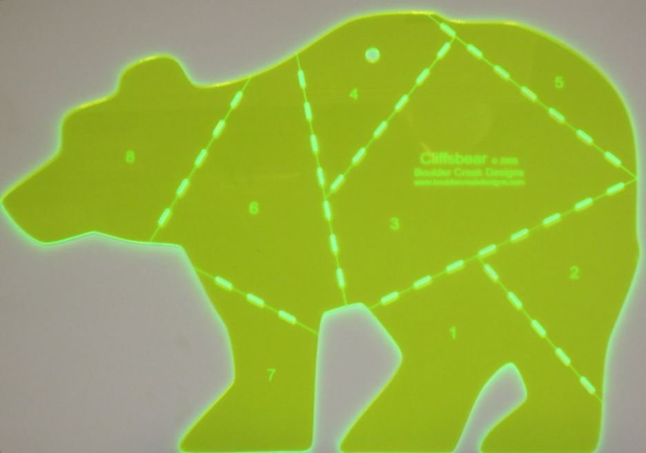 BCD001 Boulder Creek Designs Big Bear Template 13 x 10