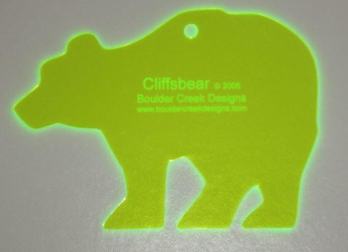 BCD003 Boulder Creek Designs Little Bear Template 6.5 x 4.5