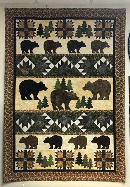 BCD121KIT Boulder Creek Designs Bear Dump Quilt Kit 54 X 78