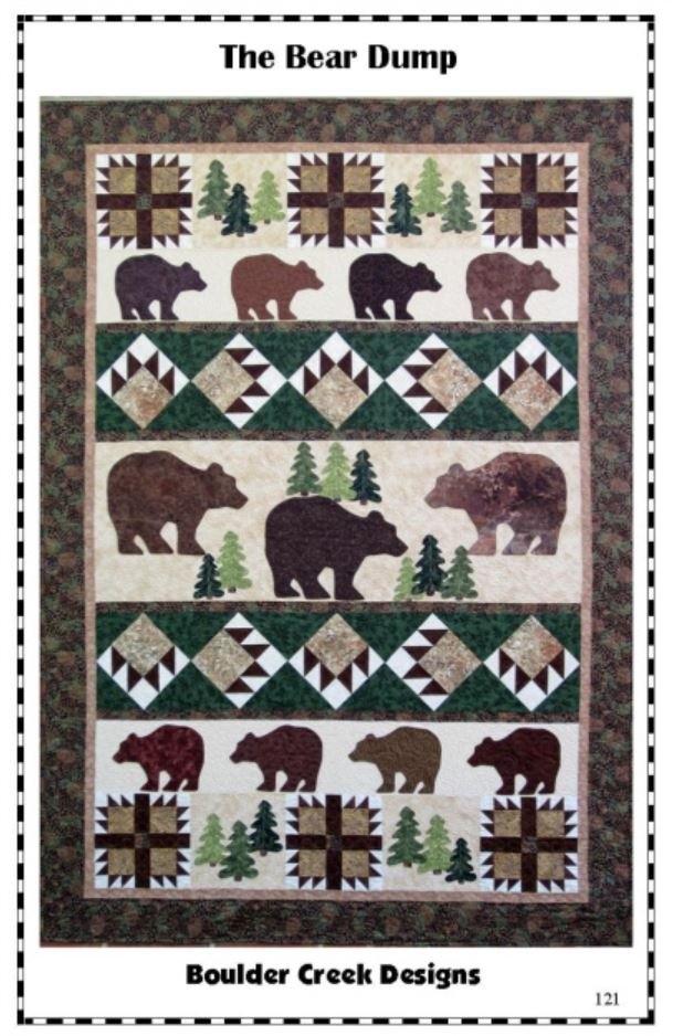 BCD121 Boulder Creek Designs Bear Dump Quilt Pattern 54 X 78