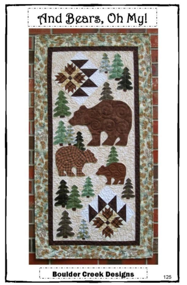 BCD125KIT Boulder Creek  And Bears Oh My! Wall Hanging 24 x 47 Kit