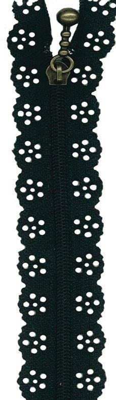 BCS1140ZBLK Little Lacie Zipper, Black, 8 inch