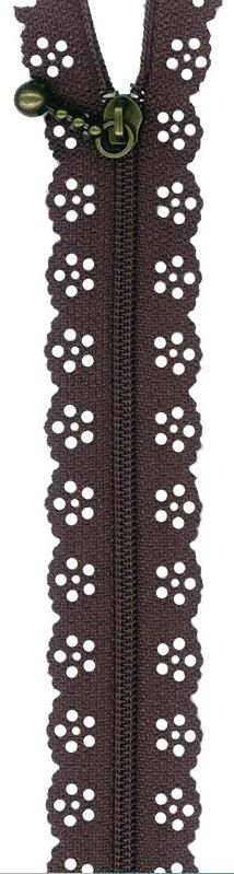 BCS1140ZBR, Little Lacie Zipper, Brown, 8 inch