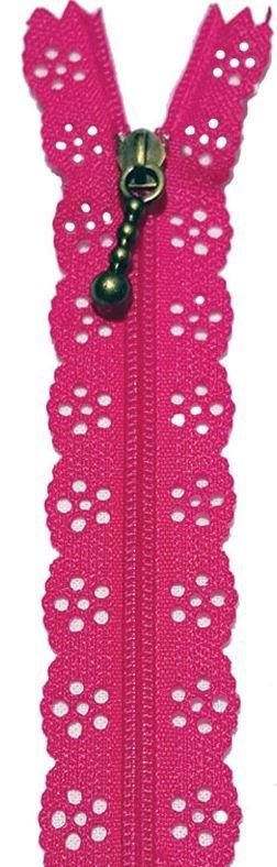 BCS1140ZDPK, Little Lacie Zipper, Dark Pink, 8 inch