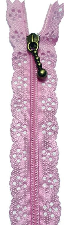 BCS1140ZLPK, Little Lacie Zipper, Light Pink, 8 inch
