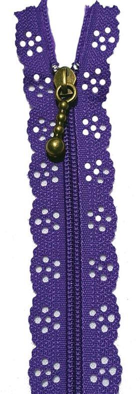 BCS1140ZPUR Little Lacie Zipper, Purple, 8 inch