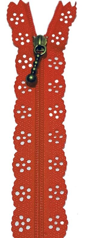 BCS1140ZRED Little Lacie Zipper, Red, 8 inch