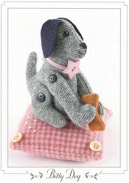 BHD-1033 Bunny Hill Designs Bitty Dog Pincushion