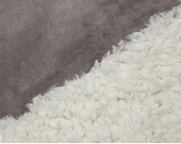 BLLAMAIVRYCHAR Shannon Bonded Cuddle Fleece Ivroy / Charcoal