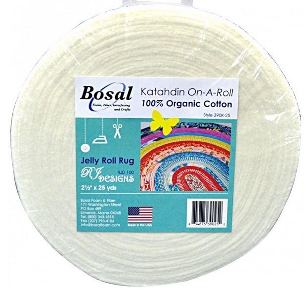 BOS390K-25 Bosal Katahdin On-A-Roll 100% Organic Cotton 2-1/2 inch wide