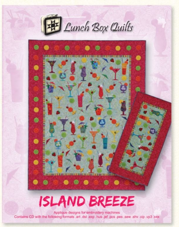 QP-IB-1 Lunch Box Quilts Island Breeze Embroidery Machine CD
