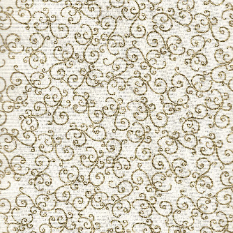 BTR6385M-IVRY Holiday Pears Ivory Scroll Christmas