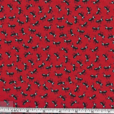 BTRA7353-088 Garden Critters Red with Picnic Ants