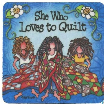 C127ST Suzy Toronto She Who Loves to Quilt Coaster