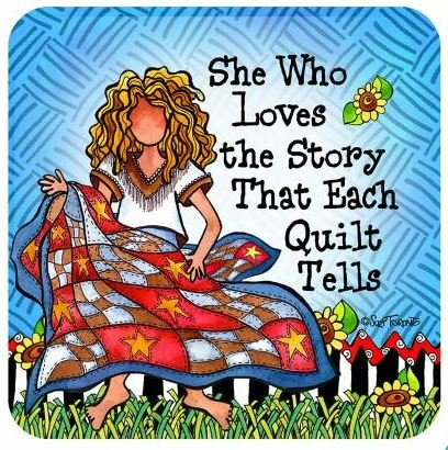 C162ST Suzy Toronto She Who Loves the Story That Each Quilt Tells Coaster