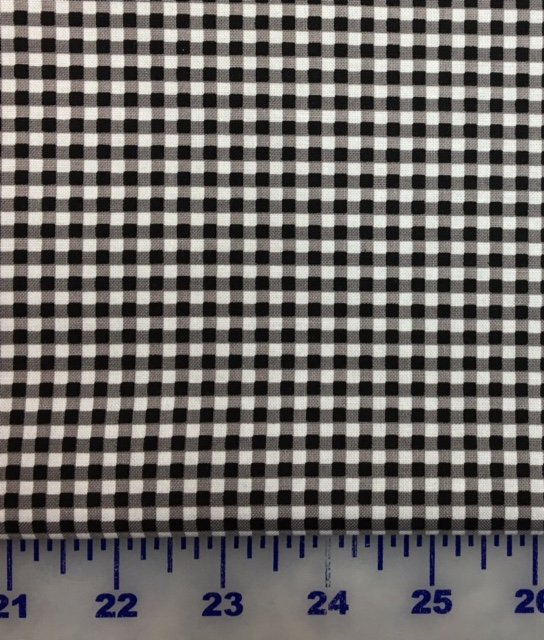 C440-110 Riley Blake Small Gingham Black with White