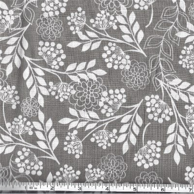 C5472-GRAY Fantine Main Riley Blake Tone on Tone Floral Gray