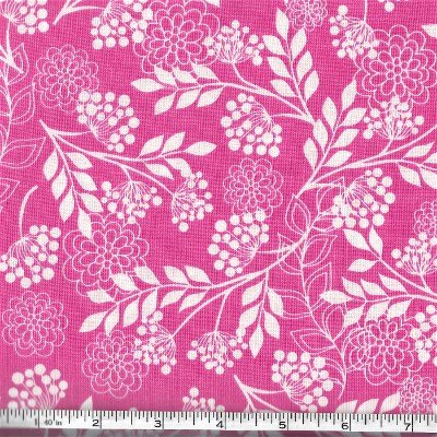 C5472-PINK Fantine Main Riley Blake White on Pink Floral