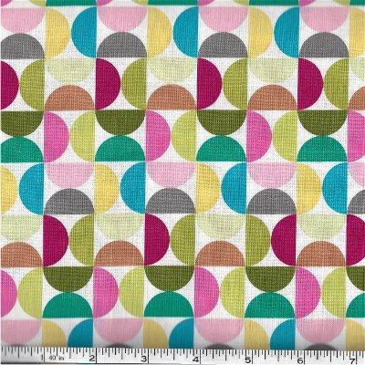 C5473-WHITE  Fantine Main Riley Blake Multi Colored Half Circles