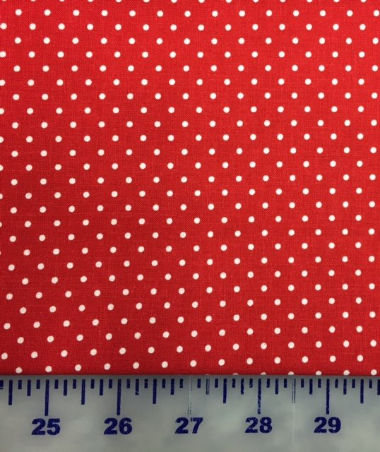 C670-80 Riley Blake Swiss Dot Red with White Dots
