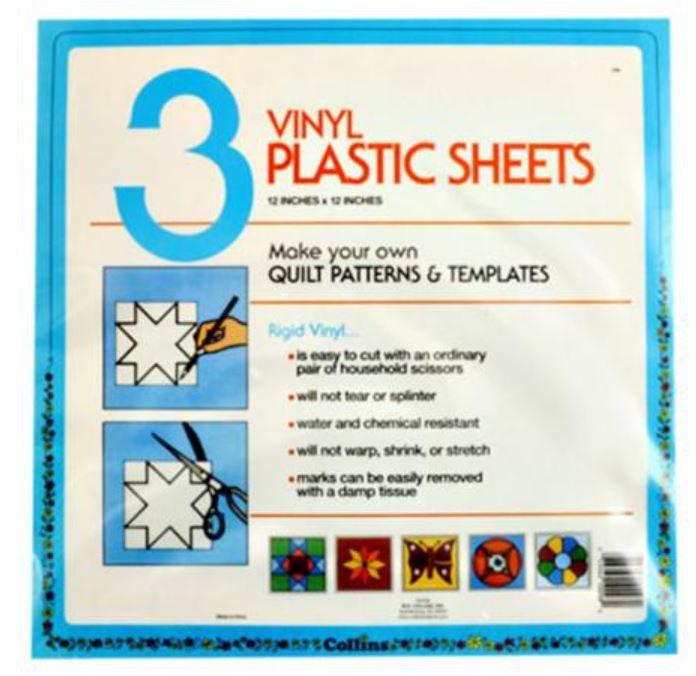 C98 Collins Ridged Vinyl Plastic Sheets Three 12 by 12 sheets per package