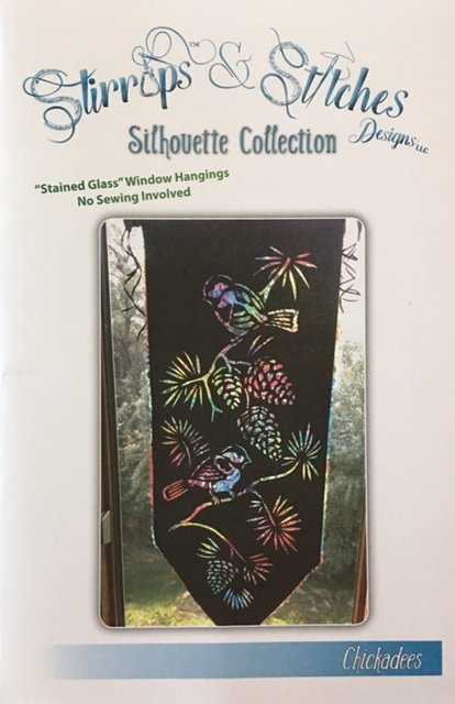 C-2017 Stirrups & Stitches Chickadees Silhouette collection Reverse Applique