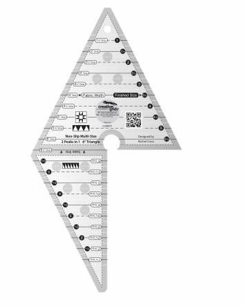 CGR2P1 Creative Grid Ruler 2 Peaks in 1 6 Triangle Made in the USA