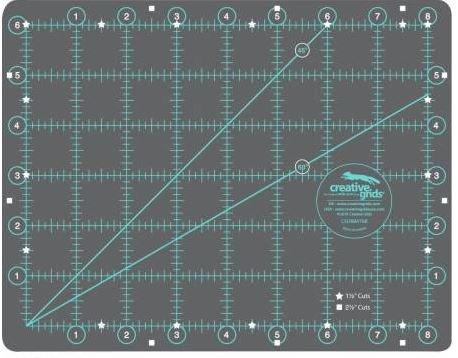 CGRMAT68 Creative Grid Self-Healing Cutting Mat 6in x8in