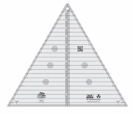 CGRT12560 Creative Grid 60 Degree Triangle 12 inch finished size Made in the USA