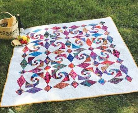 CLPJAW068 Cut Loose Snails Trail Al Fresco Quilt Pattern 62 x 62